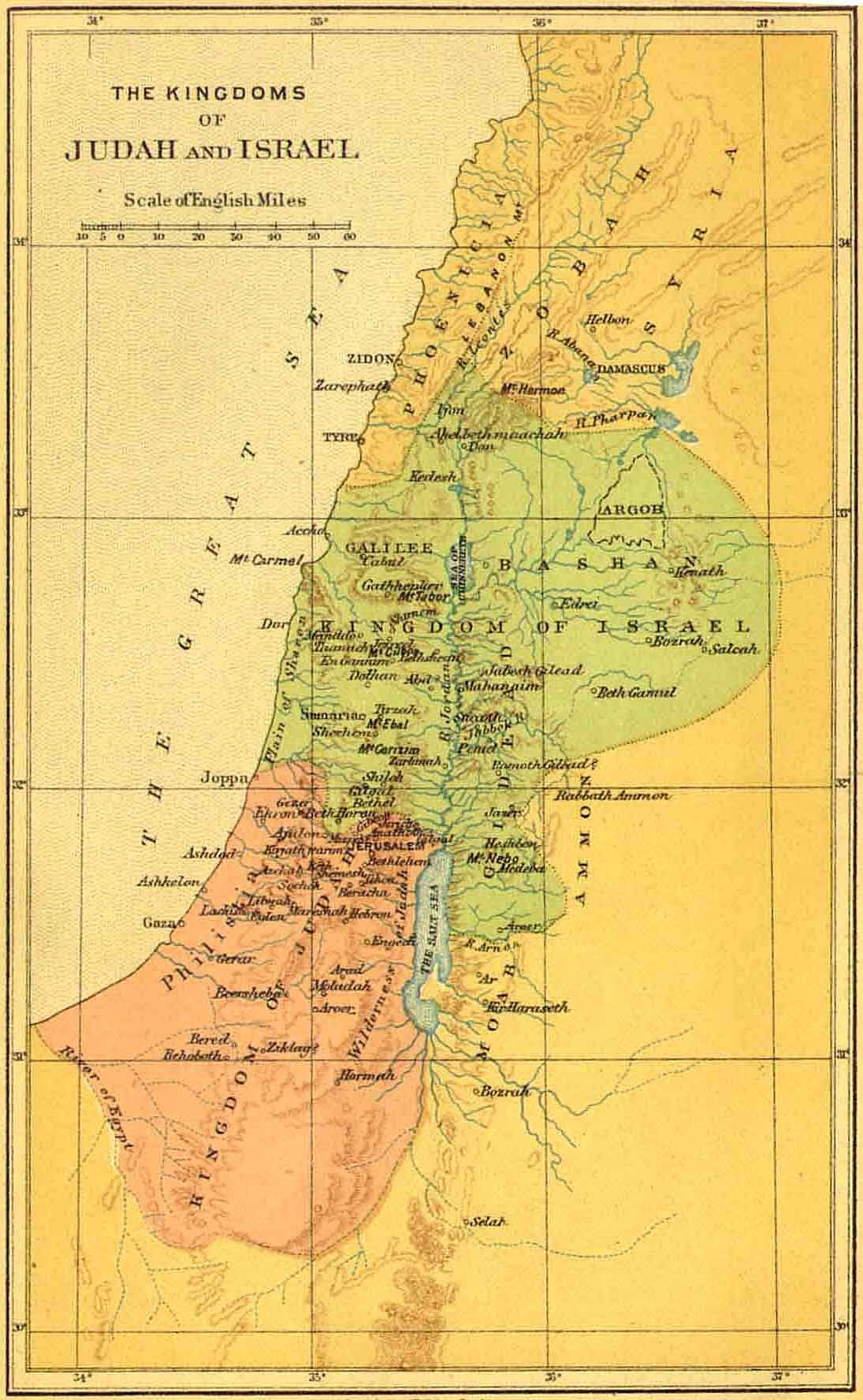 Bible Maps And Atlas Online Bible World - Map of old testament israel