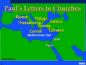 Location for Paul's Letters to Churches