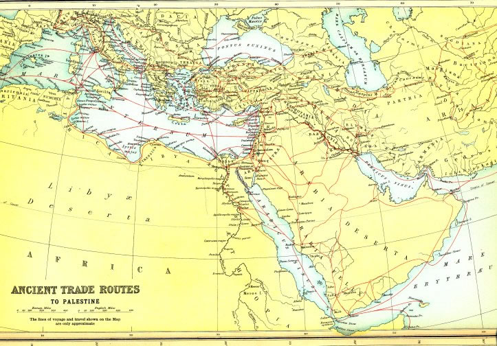 Bible maps and atlas online bible world ancient trade routes gumiabroncs Images