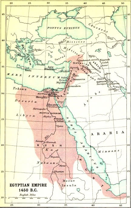 Egyptian Empire Map